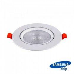 V-Tac 10W LED spotlight - Hål: Ø8 cm, Mål: Ø9,5 cm, 3 cm hög, Samsung LED chip, 230V
