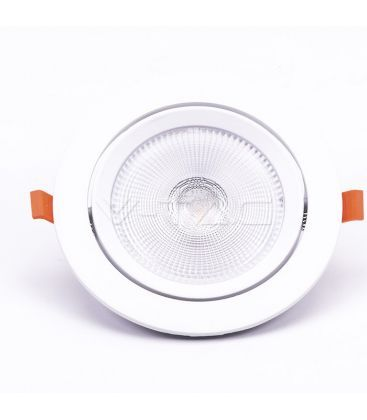V-Tac 20W LED downlight - Hål: Ø14,5 cm, Mål: Ø17 cm, 3 cm hög, Samsung LED chip, 230V