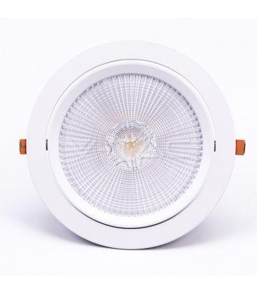 V-Tac 30W LED downlight - Hål: Ø19,5 cm, Mål: Ø22,5 cm, 3 cm hög, Samsung LED chip, 230V