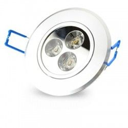 LED Downlights 3W downlight - Hål: Ø6,6 cm, Mål: Ø8 cm, 4 cm hög, 24V