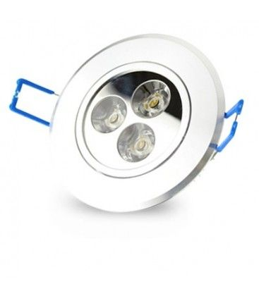 3W downlight - Hål: Ø6,6 cm, Mål: Ø8 cm, 4 cm hög, 24V