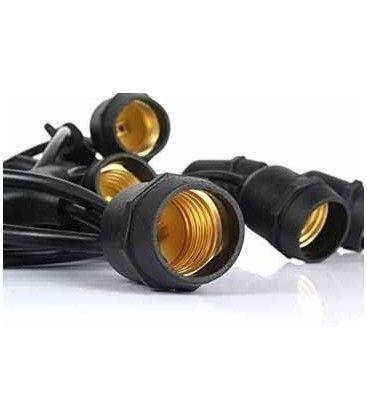 V-Tac ljusslinga till 15 stk. E27 lampor - 15 meter, IP54, 230V, utan ljuskälla