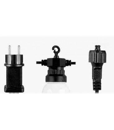 V-Tac LED ljusslinga med 10 stk. 0,5W lampor - 5 meter, IP44, 230V, inkl. ljuskälla
