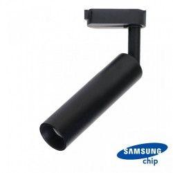 Takspotlights V-Tac svart skena spotlight 7W - Samsung LED chip, 3-fas