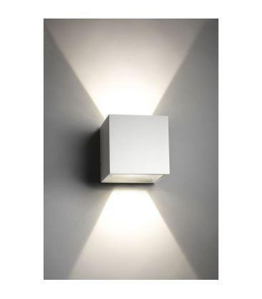 V-Tac 6W LED vit vägglampa - Kvadrat, justerbar spridning, IP65 utomhusbruk, 230V, inkl. ljuskälla