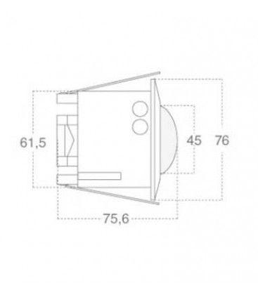 V-Tac rörelsesensor till indbygning - LED venlig, vit, PIR infraröd, IP20 inomhus