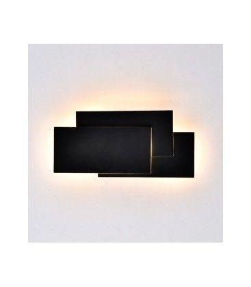 V-Tac 12W LED svart vägglampa - IP20 inomhus, 230V, inkl. ljuskälla