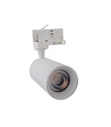 LEDlife vit skena spotlight 10W - Flicker free, RA90, 3-fas