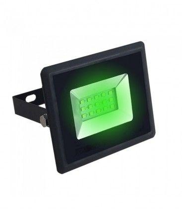 V-Tac 10W LED strålkastare - Arbetsarmatur, grön, utomhusbruk