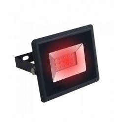 V-Tac 10W LED strålkastare - Arbetsarmatur, röd, utomhusbruk