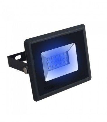 V-Tac 10W LED strålkastare - Arbetsarmatur, blå, utomhusbruk