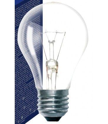 Klart E27 60W glödlampa - Traditionel lampa, 710lm, dimbar, A50
