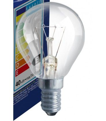 Klart E14 25W glödlampa - Traditionel lampa, 200lm, dimbar, PS45