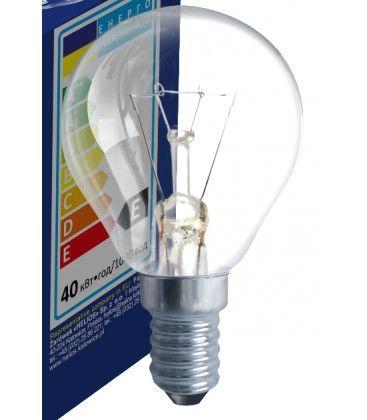 Klart E14 40W glödlampa - Traditionel lampa, 400lm, dimbar, PS45