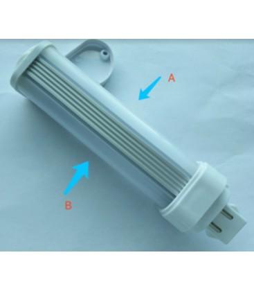 LEDlife G24D LED lampa - 5W, 240°, matt glas