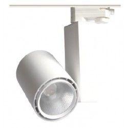 Takspotlights 30W skena spotlight - Citizen LED chip, 3000K, 60 grader, 1 fase
