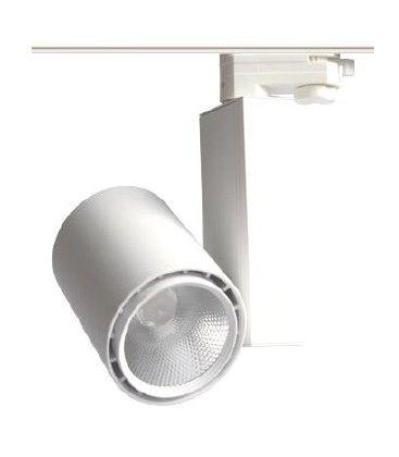 30W skena spotlight - Citizen LED chip, 3000K, 60 grader, 1 fase