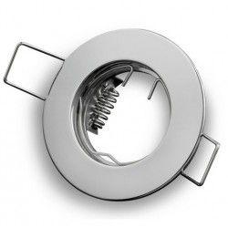 Inomhus downlights Downlight kit utan ljuskälla - Hål: Ø5 cm, Mål: Ø6 cm, krom, välj MR11 eller GU10 sockel