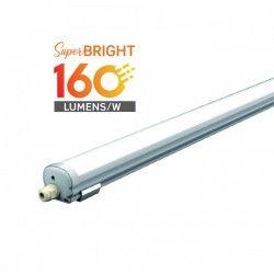 Med inbyggd LED - Lysrörsarmaturer V-Tac vattentät 24W komplett LED armatur - 120 cm, 160 lm/W, IP65, 230V