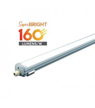V-Tac vattentät 24W komplett LED armatur - 120 cm, 160 lm/W, IP65, 230V