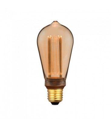 V-Tac 4W LED lampa - Filament, amberfärgad, extra varmvitt, 1800K, ST64, E27