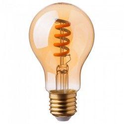 E27 vanliga LED V-Tac 4W LED lampa - Spiral filament, amberfärgad, extra varmvitt, 2200K, A60, E27
