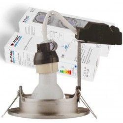 V-Tac 3-pak downlight med 5W ljuskälla - Stål front, komplettt med GU10 håller och LED spotter