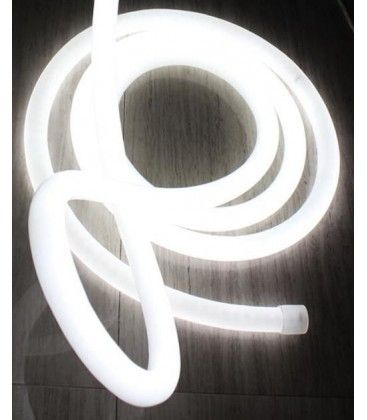 Neutralvit D16 Neon Flex LED - 8W per. meter, IP67, 230V