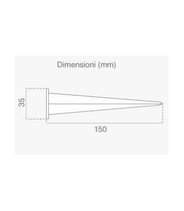 V-Tac Spjut till LED strålkastare - Diameter 3,5 cm, Höjd 15 cm