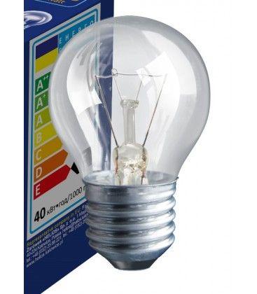 Klart E27 40W glödlampa - Traditionel lampa, 400lm, dimbar, PS45