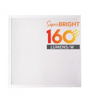 V-Tac 60x60 LED panel - 25W, 4000lm, 160lm/w, inbyggd i vit ram