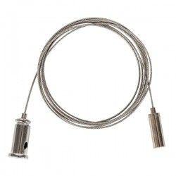 Utan LED - Lysrörsarmaturer Wire upphäng för armatur - 1,5 meter, justerbar högde, sats med 2 st.