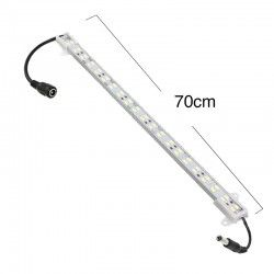 LED strip Trappe aluminium section med LED strip - 70 cm, 3W, 24V, IP65, med kontakt