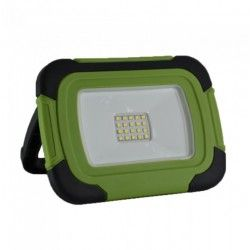 LED strålkastare V-Tac LED strålkastare 10W - 12V/230V, transportabel, uppladdningsbart, arbetsarmatur, utomhusbruk
