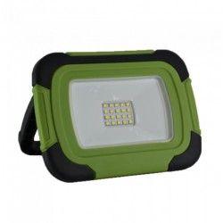 V-Tac LED strålkastare 10W - 12V/230V, transportabel, uppladdningsbart, arbetsarmatur, utomhusbruk
