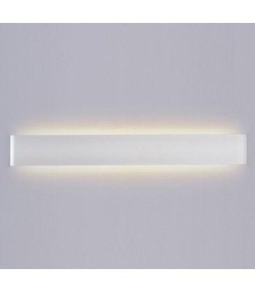 V-Tac 20W LED vit aflang vägglampa - Indirekt, IP44 utomhus, 230V, inkl. ljuskälla