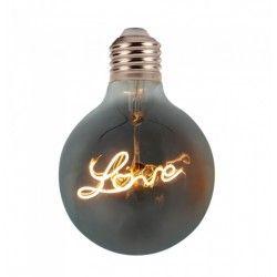 Tilbud V-Tac 5W LED Love globlampa - Filament, Ø12,5cm, extra varmvitt, E27