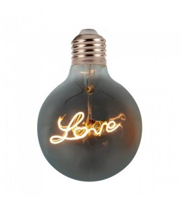 V-Tac 5W LED Love globlampa - Filament, Ø12,5cm, extra varmvitt, E27