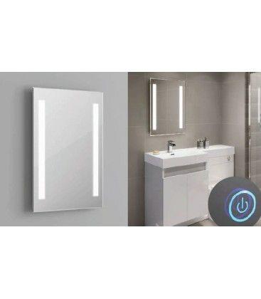 Spejl med indbyggt LED lys - 37W, Touch, Justerbar varm-koldt lys