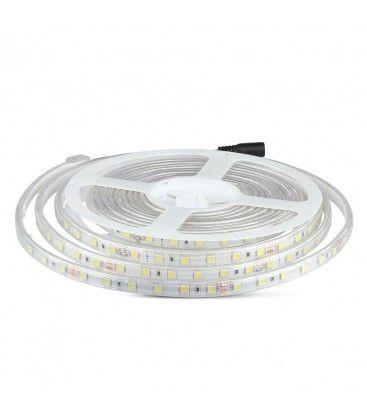 V-Tac 9W/m stänksäker LED strip - 5m, IP65, 24V, 60 LED per. meter