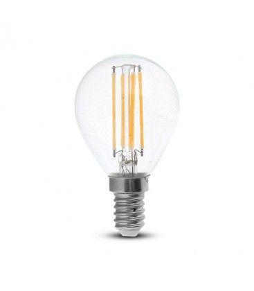 V-Tac 4W LED lampa - Filament, P45, E14