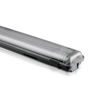 V-Tac 150 cm vattentät armatur med rör - Inkl. 2 stk. 22W LED rör, IP65, 230V