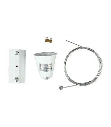 V-Tac wireupphäng för skenor - Vit, passa till V-Tac skenor, 3-fas