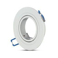 Inomhus downlights Downlight kit utan ljuskälla - Hål: Ø7,5 cm, Mål: Ø9,1 cm, matt vit, välj MR16 eller GU10 sockel