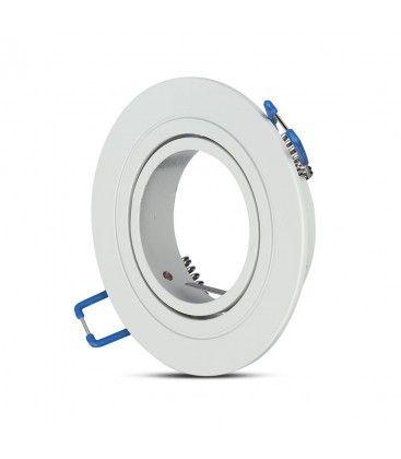 Downlight kit utan ljuskälla - Hål: Ø7,5 cm, Mål: Ø9,1 cm, matt vit, välj MR16 eller GU10 sockel