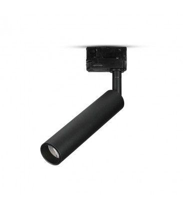 V-Tac svart skena spotlight 7W - Samsung LED chip, 3-fas
